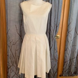 Just... Taylor 14 white cotton fit and flare dress
